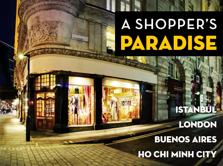 Shopping Around the World: A Shopper's Paradise