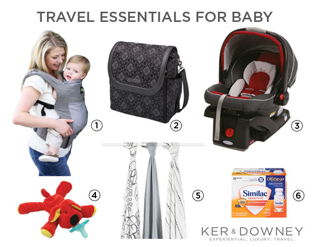 essentials for traveling with a baby