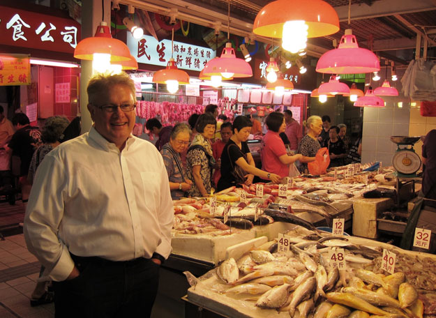 chef gray at hong kong wet market