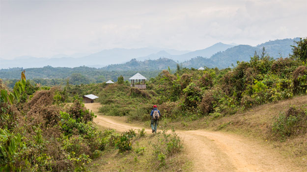 hiking outside of putao