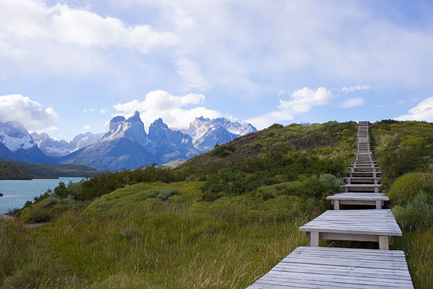 walkway in patagonia chile