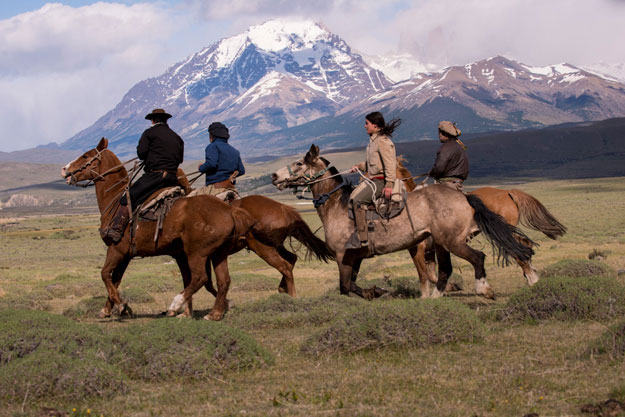 horseback riding from awasi patagonia, chile