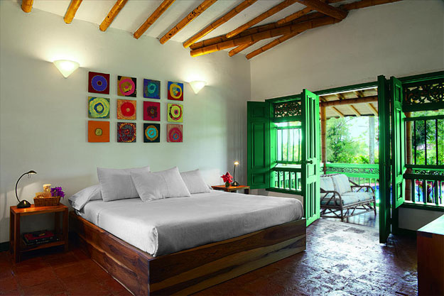 room at hacienda bambusa in colombia
