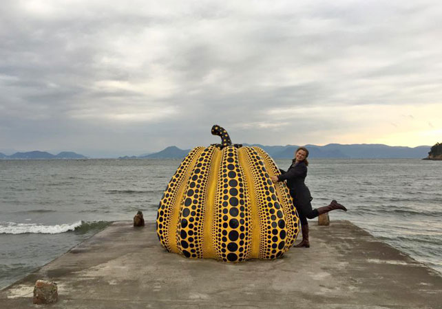 Luxury Japan Vacation | Yayoi Kusama Pumpkins | Ker Downey