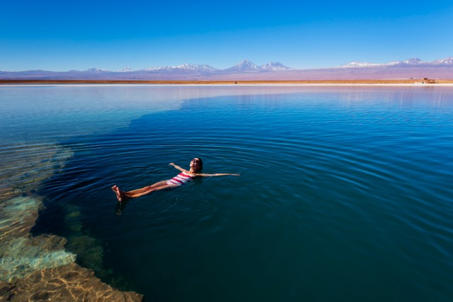 Chile and Bolivia - Salt Flats in South America