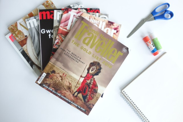 How to Make a Travel Vision Board - Ker & Downey - Materials