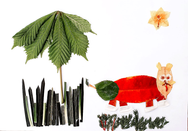 How to Make Africa Inspired Leaf Art - Ker & Downey - Lion
