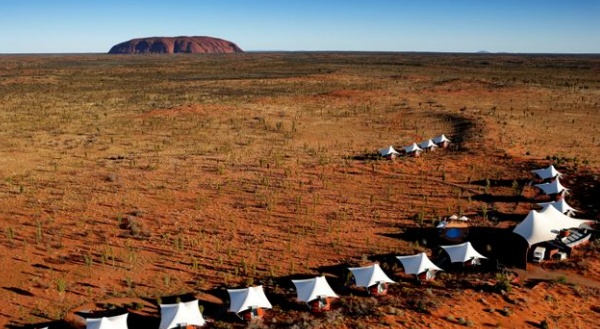 The view of Ayers Rock from Longitude 131